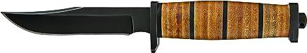 Buck Brahma S Stahl 420HC, Bowie-Klinge, Schwarz Oxidiert Micarta-Griff, Leder- Nylonscheide Gürtelmesser B01B3NMFJ6 | Schön geformt