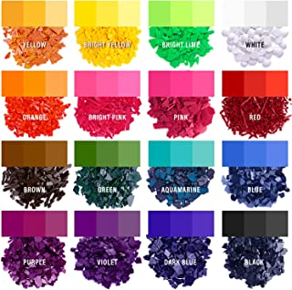 Candle Dyes - Wax Dyes for Candle Making - Color Chips for Candle Making - Wax Dye Flakes - Candle Wax Color Chips - Soy C...