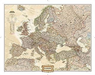 National Geographic: Europe Executive – Estilo antiguo, 30,5 x 23,75 pulgadas – Impresión de calidad artística
