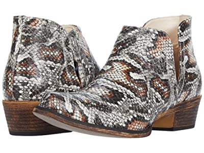 Roper Ava (Grey Faux Leather Python) Cowboy Boots