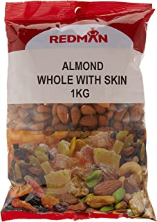 RedMan Whole Almond With Skin, 1Kg