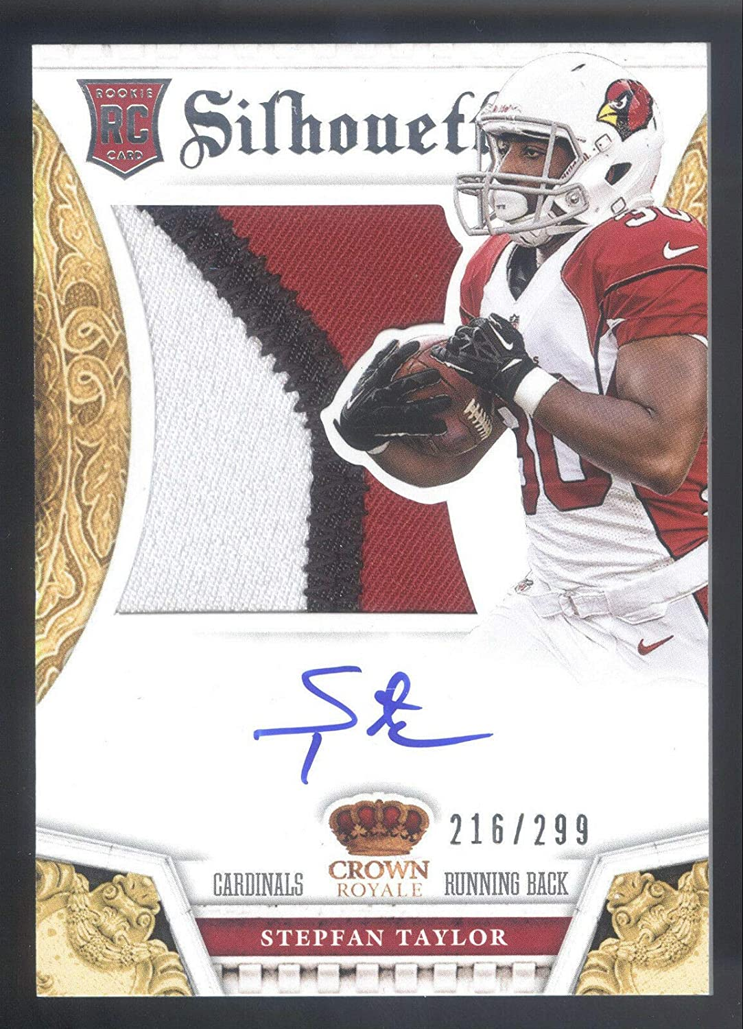 2013 Crown Royale #234 Stepfan Taylor Great interest Autogr 3 Card On Clr Patch We OFFer at cheap prices