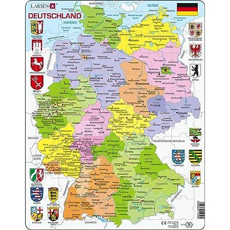 Germania Cartina Fiumi.Larsen A11 Mappa Politica Della Germania Edizione Tedesco Puzzle Incorniciato Con 70 Pezzi Amazon It Giochi E Giocattoli