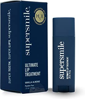 Supersmile Ultimate Lip Treatment - Lip Balm for Revitalizing and Repairing Cracked, Dry Lips - Hydration and Exfoliation Chapstick (Vanilla Almond, 1 Tube)