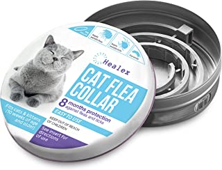 Healex Cat Flea Collar for Flea and Tick Treatment and Prevention | Premium Version, Collars Work for Cats and Kittens, Prevents Reinfection | Helpful E-Book Included