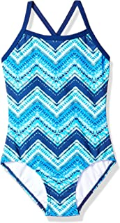 Kanu Surf Girls' Layla Beach Sport Banded 1 Piece Swimsuit