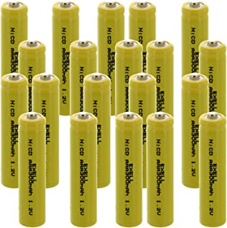 10x Exell AA 1.2V 1000mAh NiCD Button Top Rechargeable Batteries For Intermatic Solar Garden Lights Path Lights Motion Sensor Lawn Lighting