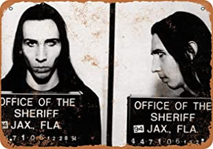 Art5tore Iron Painting Signs Home Decor 10 X 14 Metal Sign 1994 Marilyn Manson Mug Shot Vintage Look