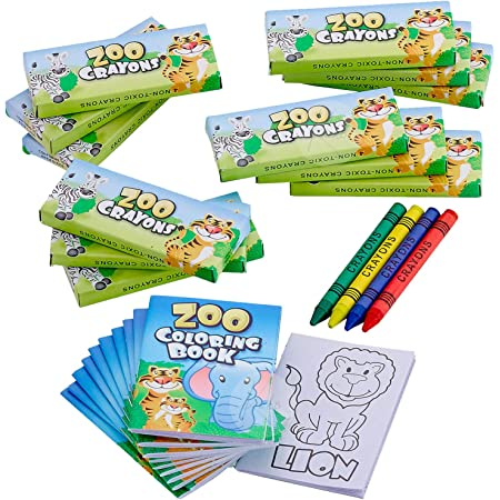 Amazon.com: Kicko Zoo Animal Coloring Book Set - 12 Pieces Of Jungle  Activity Sheets - Perfect For Pastimes, Educational, School Supplies,  Sensory Tools, Party Favor: Toys & Games