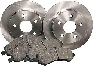 DK1252-1 Rear Brake Rotors and Ceramic Pads and Hardware Set Kit