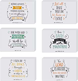 48 Bible Verse Cards. Bulk Box Set of Inspirational and Motivational Religious Cards. Christian Quotes Cards with Envelopes for Sympathy, Greeting, Thank You.