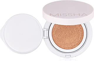 MISSHA M Magic Cushion Cover Lasting SPF50+/PA+++(No.21) - longlasting, high coverage, hydrating cushion foundation with excellent long lasting effect- Amazon QR Code for Authenticity