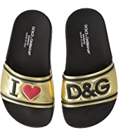 Dolce & Gabbana Kids - Gold Slide (Little Kid)