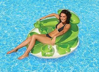 Poolmaster Water Pop Circular Swimming Pool Float Lounge, Green