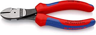 KNIPEX 74 02 160 High Leverage Diagonal Cutter black atramentized with multi-component grips 160 mm
