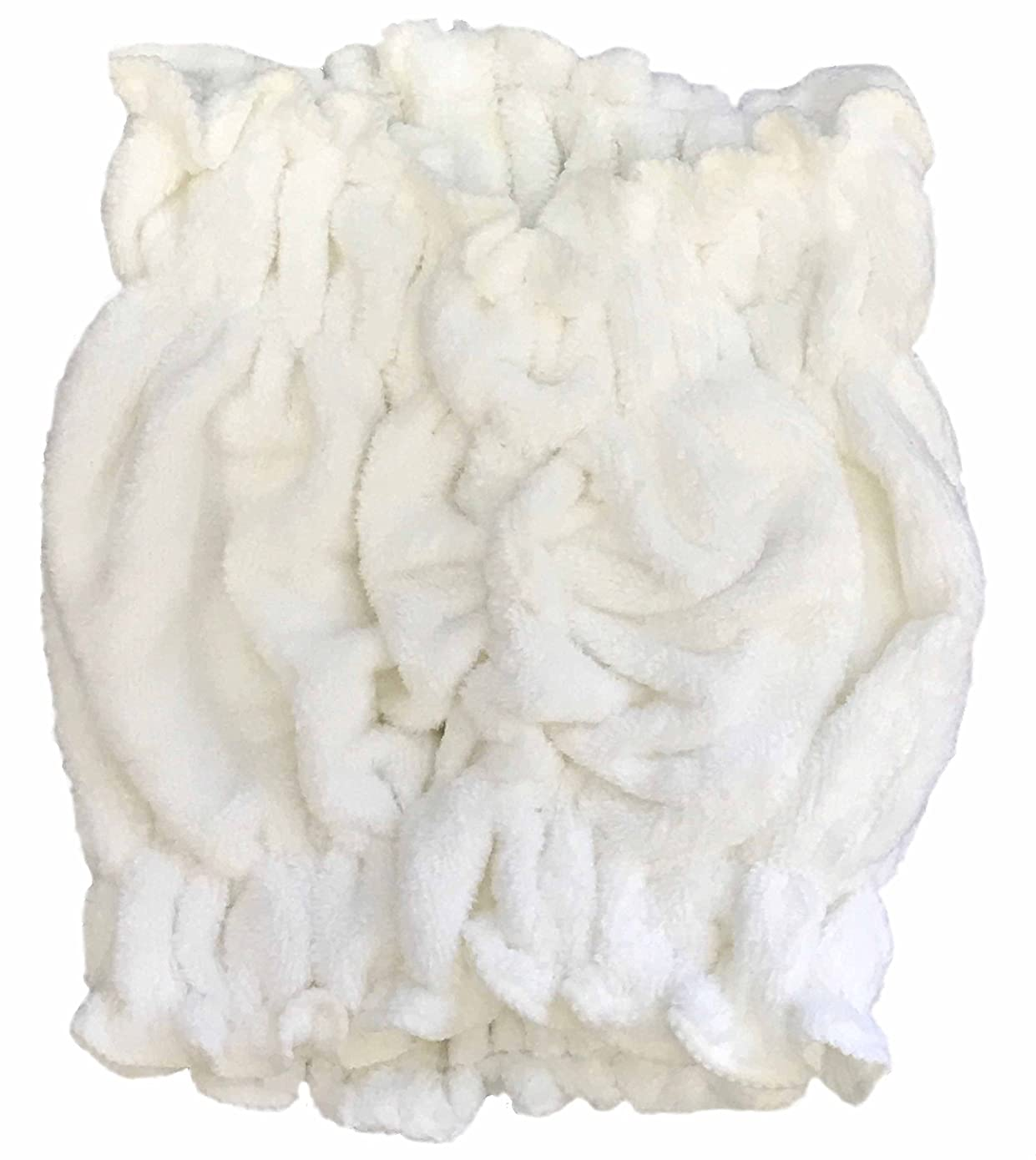 レール彼認知キヌガワカンパニー ヘアドライ ターバン タオル D?Rapide ホワイト 頭囲50~61cm (吸水 速乾 マイクロファイバー仕様) MK-4014