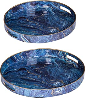 Best blue round tray Reviews