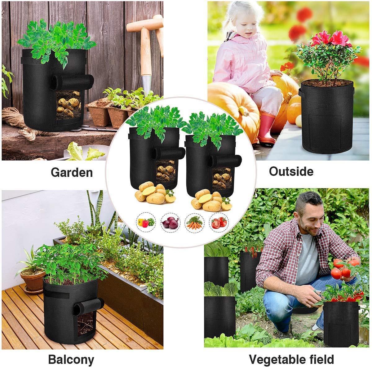 Bolsa de Cultivo de Plantas, 3 x 7 Gallones Maceta de Cultivo de ...