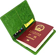 Genuine Leather Passport Holder Cover Case Travel Wallet - for Men & Women - By LXFF