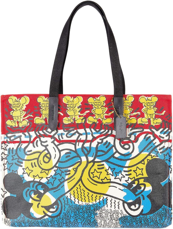 COACH Coach Dallas Mall X Disney Keith Haring Print Very popular! Multi 42 Tote in