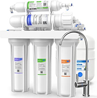 SimPure 100 GPD Reverse Osmosis Water Filter System - Under Sink 5 Stage RO Drinking Water Filtration Purifier, NSF Certif...