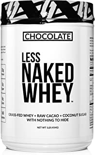 Less Naked Whey Chocolate Protein 1LB - All Natural Grass Fed Whey Protein Powder, Organic Chocolate, and Coconut Sugar - ...