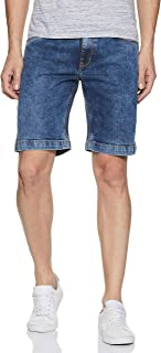 DIVERSE Men's Slim Fit Denim Shorts