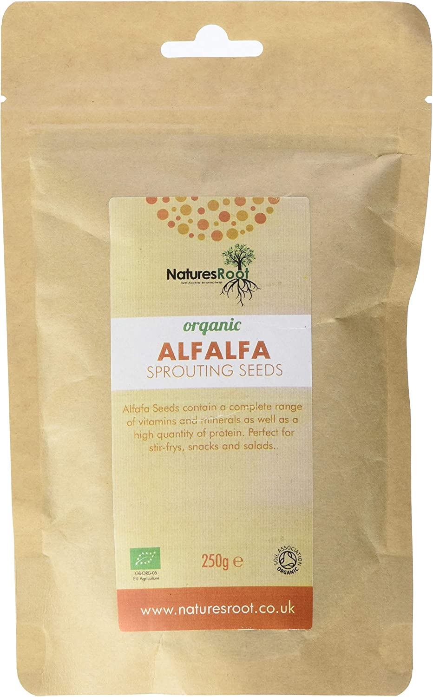 Natures Root Semillas de Alfalfa Orgánicas 250g ...