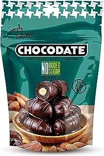 Chocodate Exclusive Dark Chocolate with No Sugar Added, 90 gms