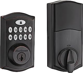 Kwikset 99130-003 SmartCode 913 Non-Connected Keyless Entry Electronic Keypad Deadbolt Door Lock Featuring SmartKey Security, Traditional Venetian Bronze