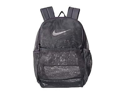 Nike Brasilia Mesh Backpack 9.0 (Flint Grey/Flint Grey/White) Backpack Bags