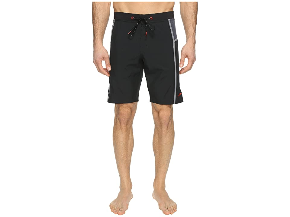 Speedo Stretchtech Bonded Boardshorts (Speedo Black) Men