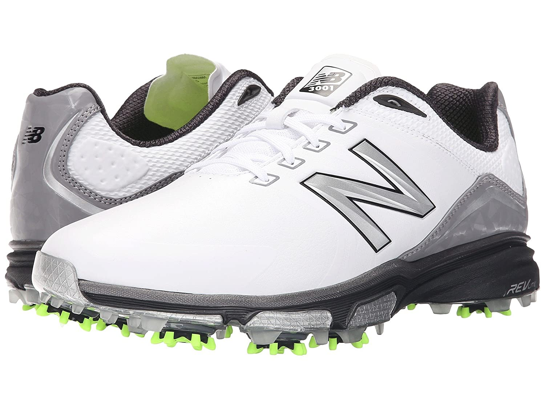 (ニューバランス) New Balance メンズゴルフシューズ?靴 NBG3001 White/Green 12 (30cm) D - Medium