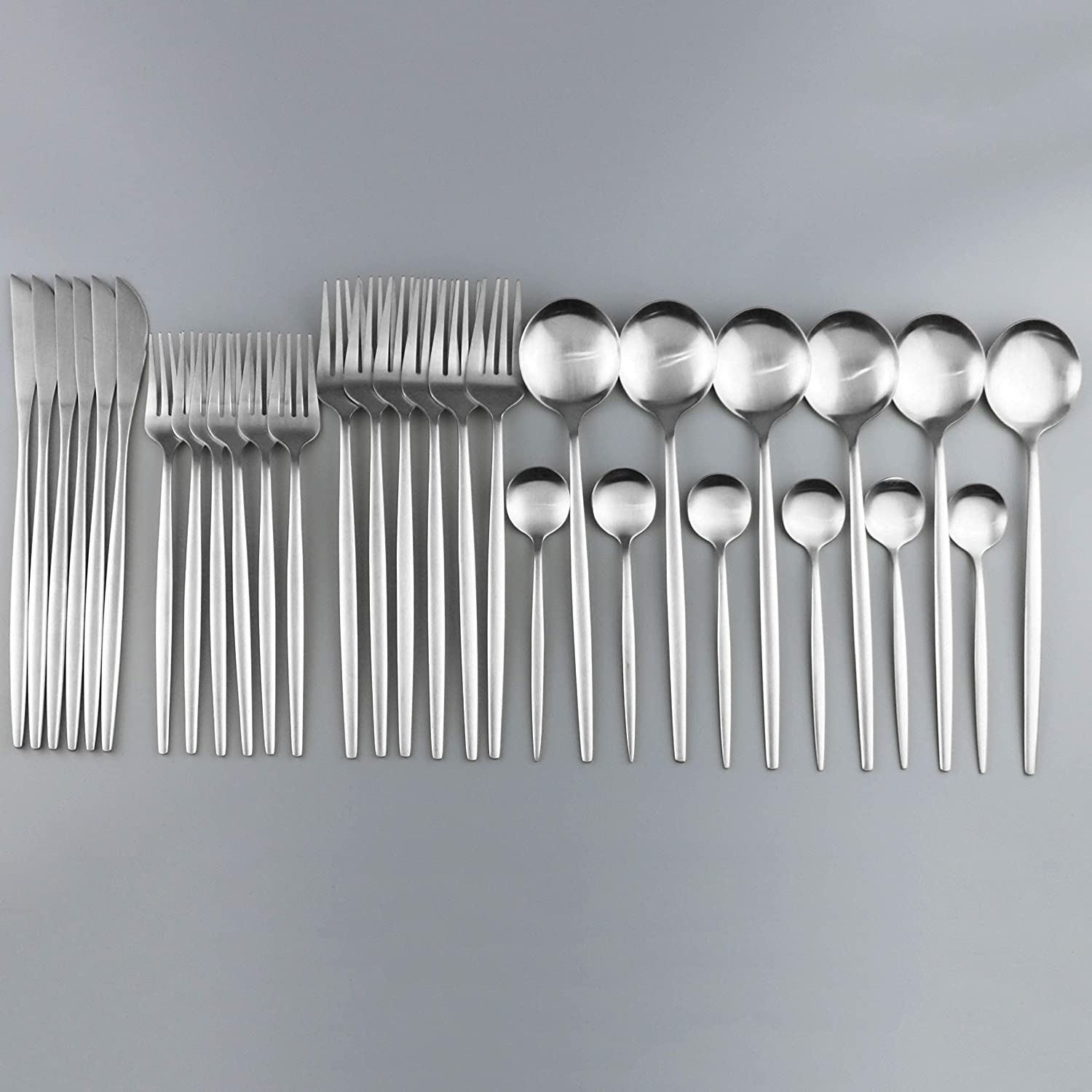 Sales for sale Silverware Set White sold out Silver Dinnerware 304 Stainless C Steel
