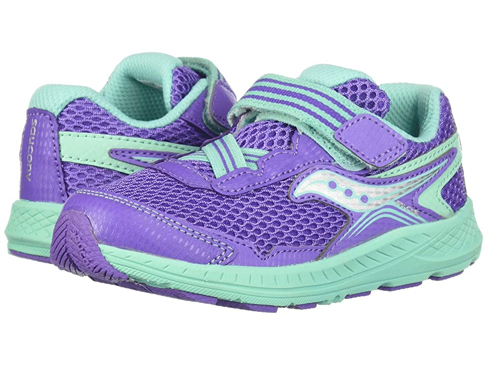 Saucony Kids Ride 10 Jr (Toddler/Little Kid) (Purple/Turquoise) Girls Shoes