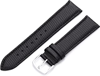 Hadley-Roma Men's MSM725RA 160 16-mm Black Java Lizard Grained Leather Watch Strap