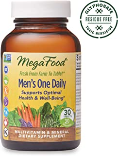 MegaFood, Men's One Daily, Daily Multivitamin and Mineral Dietary Supplement with Vitamins B, D and Zinc, Non-GMO, Vegetarian, 30 Tablets (30 Servings) (FFP)