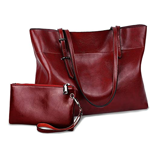 1f220317543d Dark Red Leather Bag: Amazon.com
