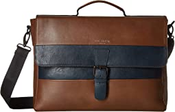 Bocelli Striped Leather Messenger Bag