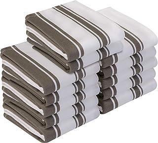 Utopia Towels - 12er Pack Geschirrtuch Küchentücher aus Baumwolle, 38 x 64 cm Grau
