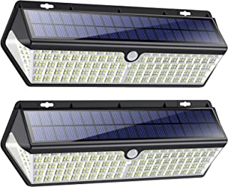 418 LED Lampe Solaire Extérieur【3500LM 4400mAh Puissante éclairage avec Charge USB】Détecteur de Mouvement éclairage Solair...