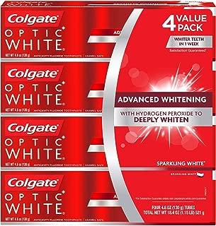 海外直送品 コルゲートオプティックホワイトスパークリングホワイト 歯磨き粉 Colgate Optic White Sparkling White Toothpaste, Sparkling Mint (4.6 oz, 5 pk.) 130gx5本