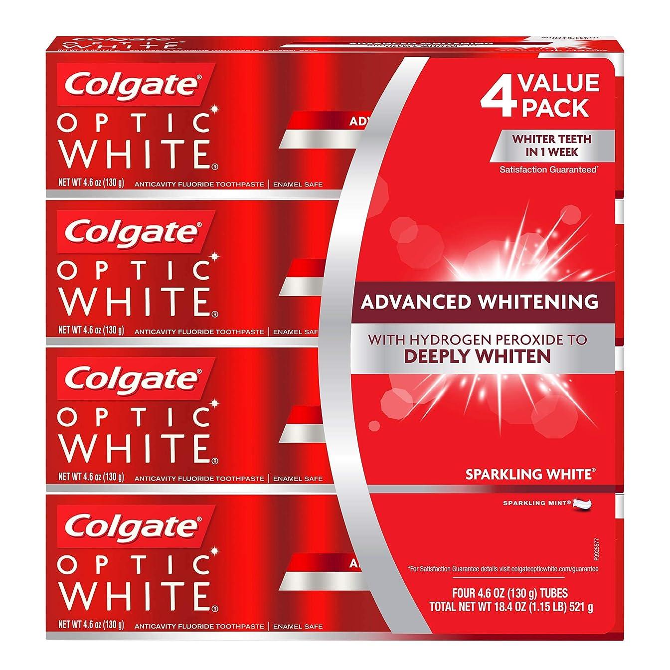 小屋ティーンエイジャーアクチュエータ海外直送品 コルゲートオプティックホワイトスパークリングホワイト 歯磨き粉 Colgate Optic White Sparkling White Toothpaste, Sparkling Mint (4.6 oz, 5 pk.) 130gx5本