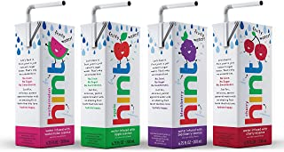 Hint Kids Water Variety Pack, (Pack of 32) 6.75 Oz Boxes, 8 Boxes Each of: Cherry, Watermelon, Apple, & Blackberry, Unswee...