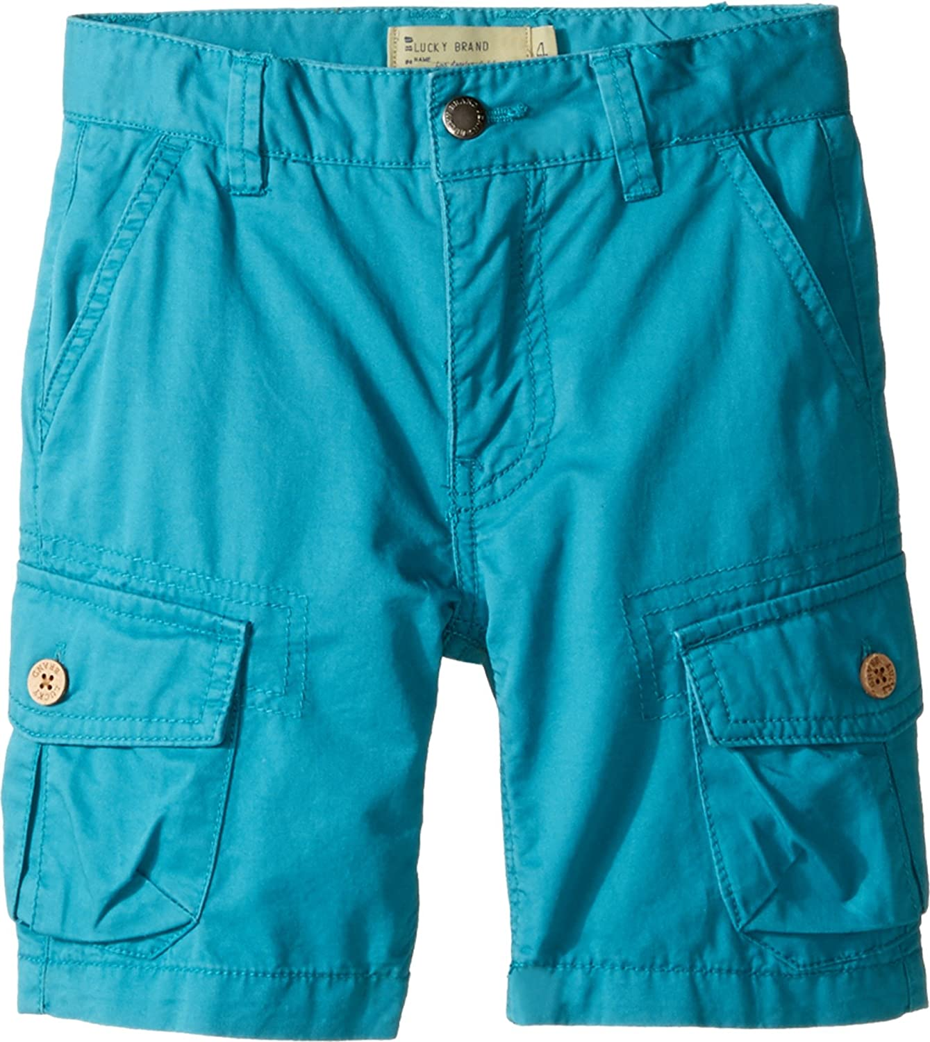 Lucky Brand Kids Boy 's Heritage Cargo Shorts In Twill ( Little Kids / Big Kids ) Parkaブルーショーツ