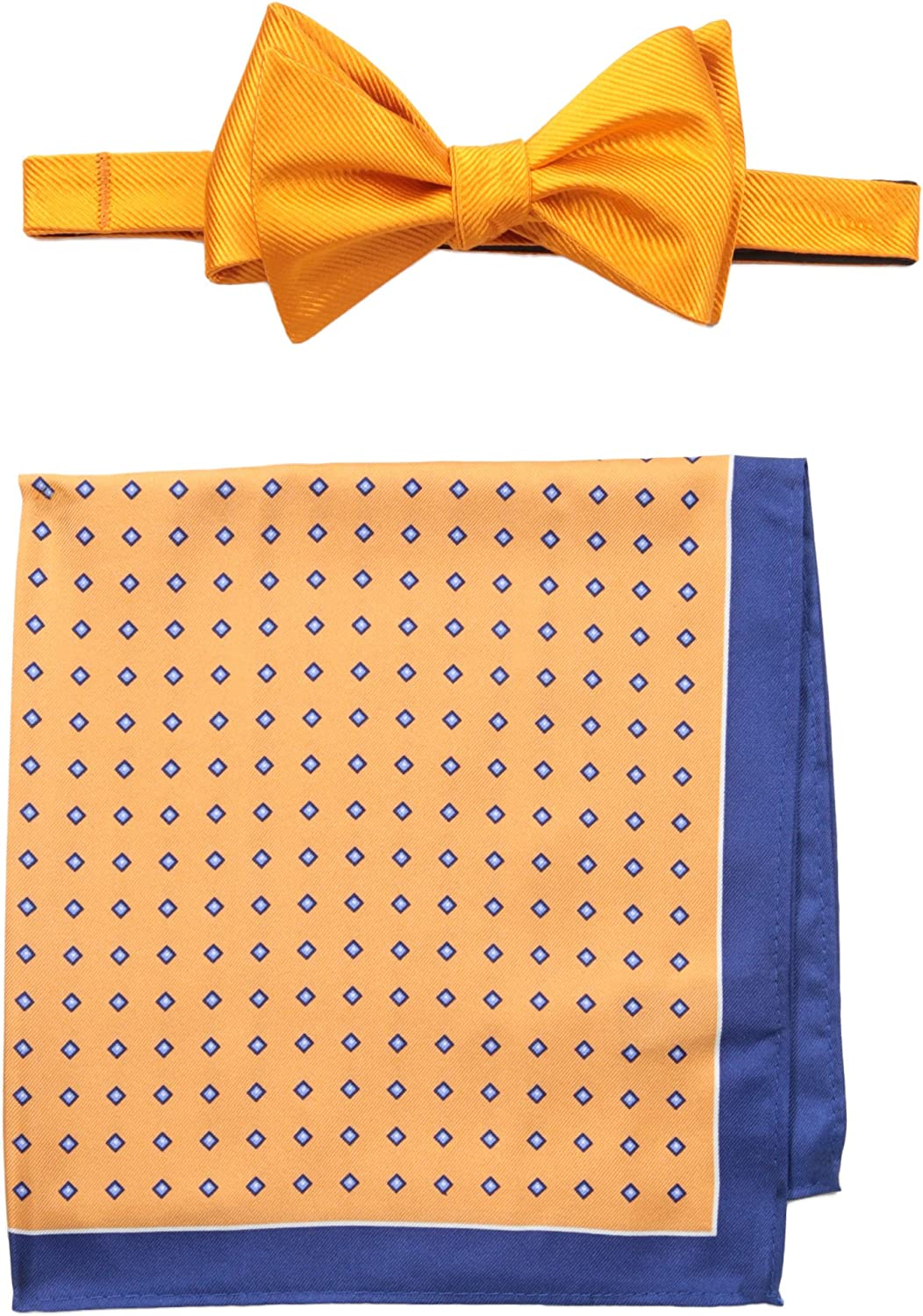 Tommy Hilfiger Men's Solid and Micro Neat Self Bow Tie and Pocket Square Set