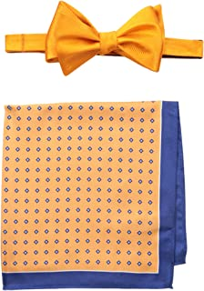 Tommy Hilfiger Tree Pre-Tied Bow Tie and Royal Stewart Pocket Square Set