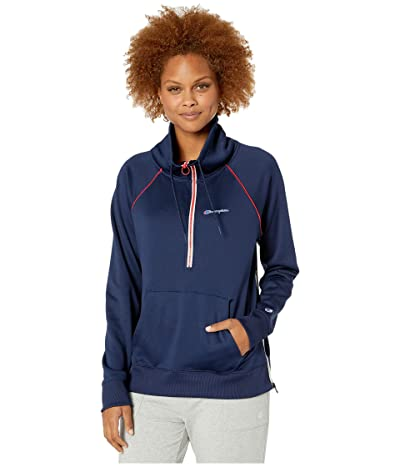 Champion Phys Ed 1/2 Zip Pullover (Athletic Navy) Women