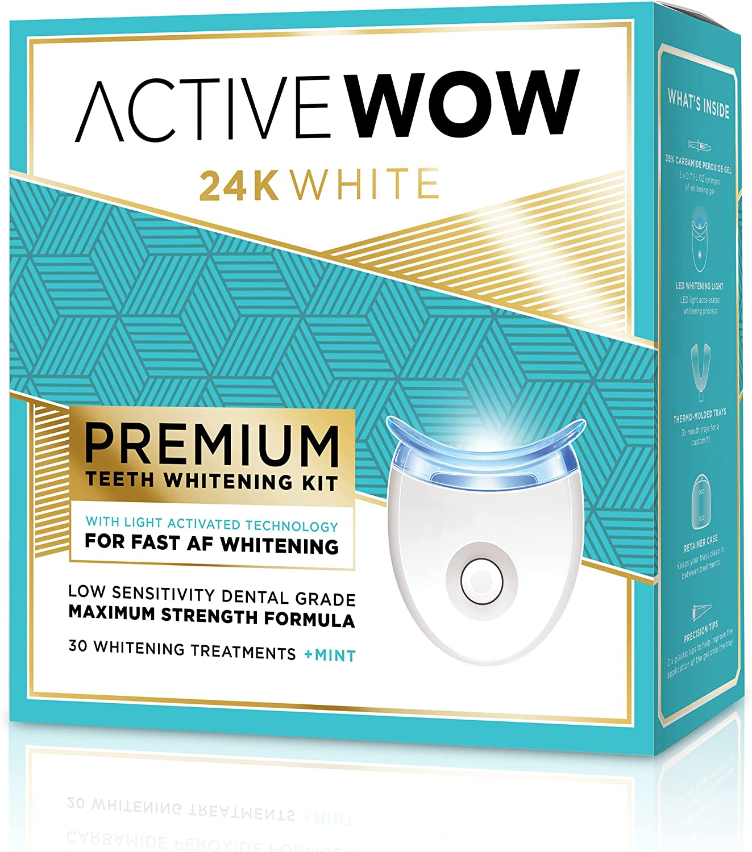 Active Wow Teeth Whitening Kit 在庫あり - 36% Light お買得 Peroxi Carbamide LED