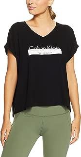 Calvin Klein Women's V Neck S/S Top w/ Calvin Klein Performance Logo